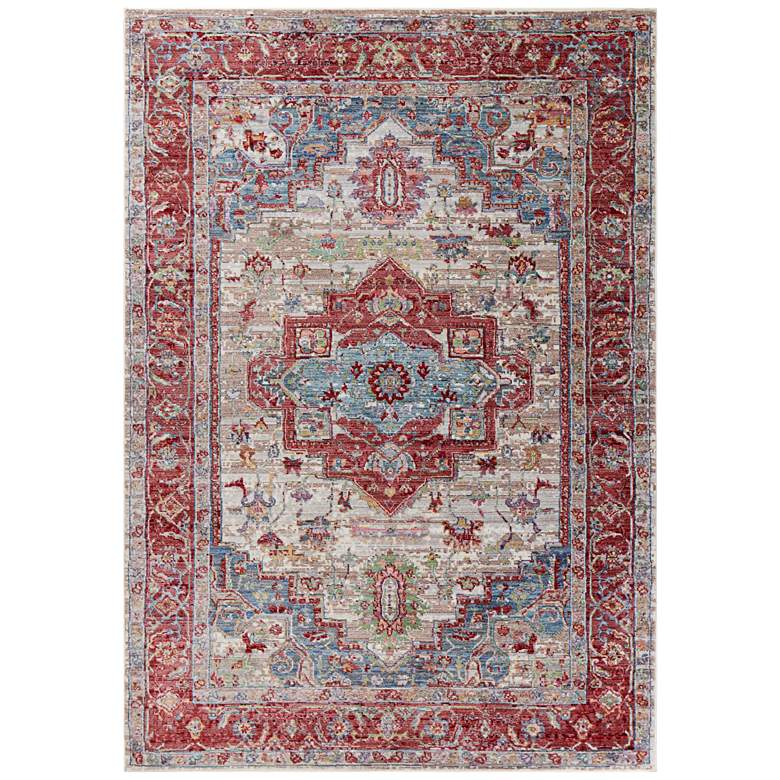 """Ashton 7710 5'3""""x7'7"""" Gray and Red Taylor Area Rug"""