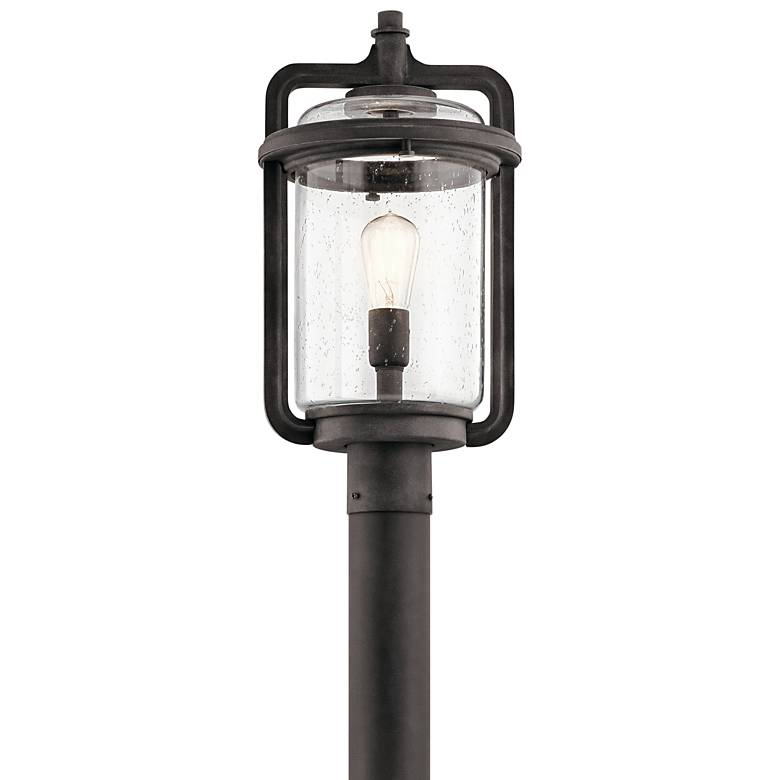 "Kichler Andover 19 3/4""H Weathered Zinc Outdoor Post Light"