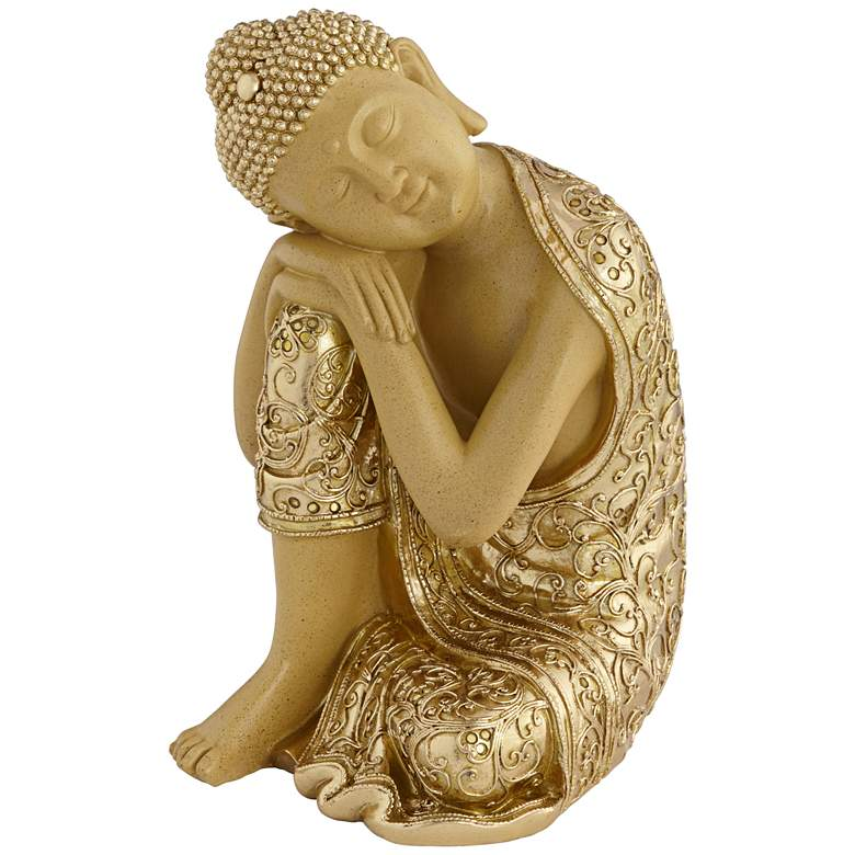 "Peace 14"" High Sleeping Buddha Statue"
