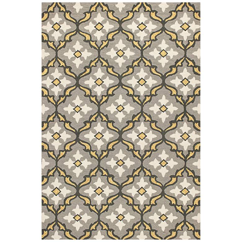 Harbor 4209 Gray and Gold Mosaic Outdoor Area Rug