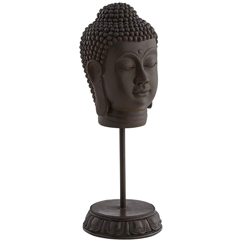 Tranquility Buddha Head on a Stand Statue