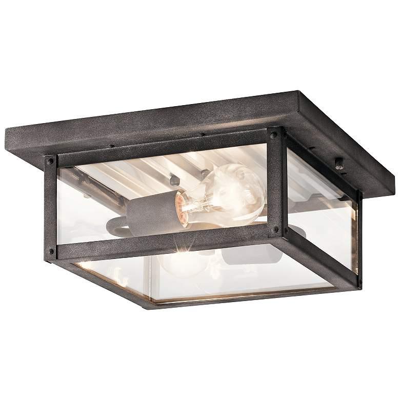 "Wayland 11 1/2"" Wide Weathered Zinc Outdoor Ceiling Light"