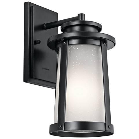"Kichler Harbor Bay 12 1/4"" High Black Outdoor Wall Light"