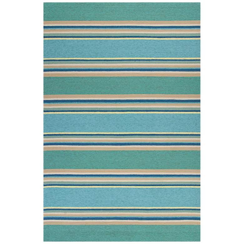 """Harbor 4230 5'x7'6"""" Ocean Stripes Indoor-Outdoor Area Rug"""