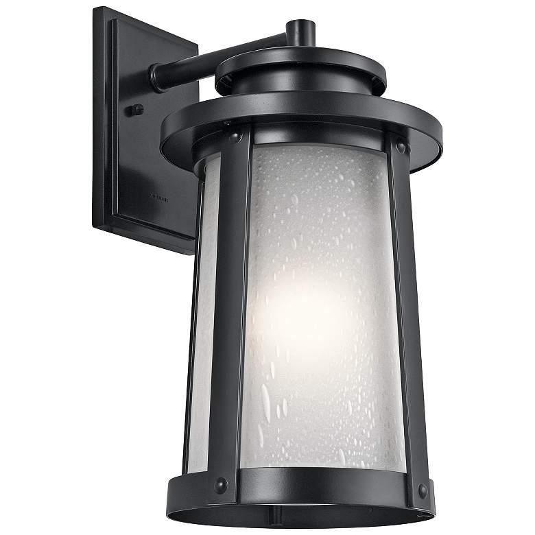 "Kichler Harbor Bay 18 1/2"" High Black Outdoor Wall Light"