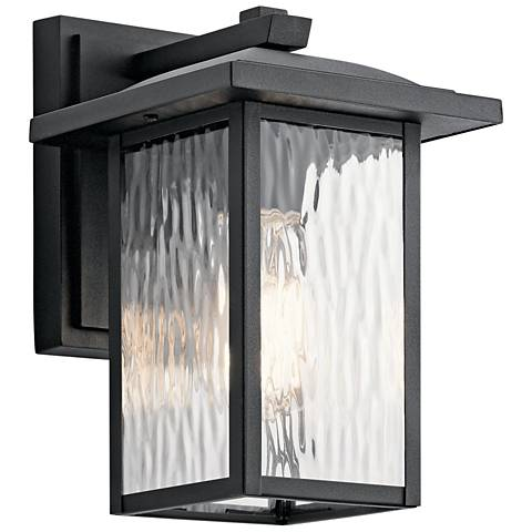 "Kichler Capanna 10 1/4""H Textured Black Outdoor Wall Light"