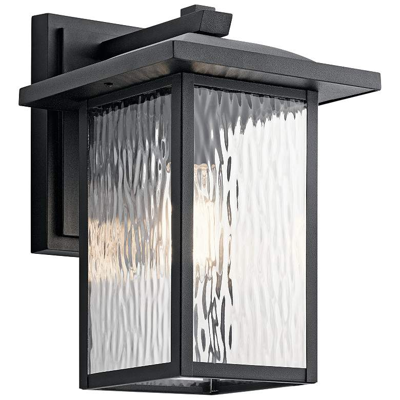 "Kichler Capanna 13 1/4""H Textured Black Outdoor Wall Light"