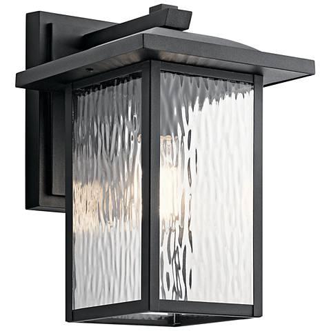 "Kichler Capanna 13 1/4""H Textured Black Outdoor Wall Light"