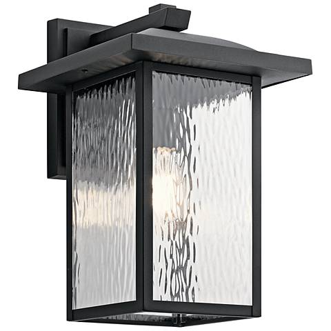 "Kichler Capanna 16"" High Textured Black Outdoor Wall Light"