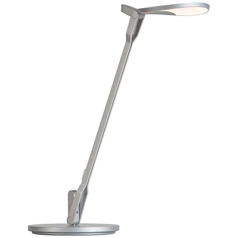 Koncept Splitty Silver LED Desk Lamp with USB Port