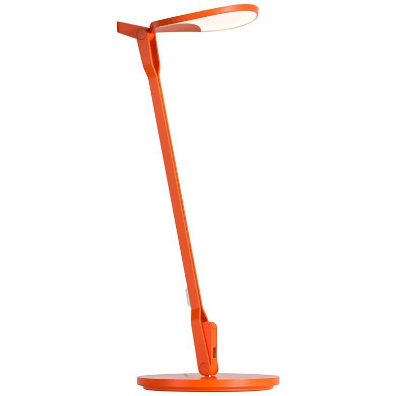 Koncept Splitty Matte Orange LED Desk Lamp with USB Port