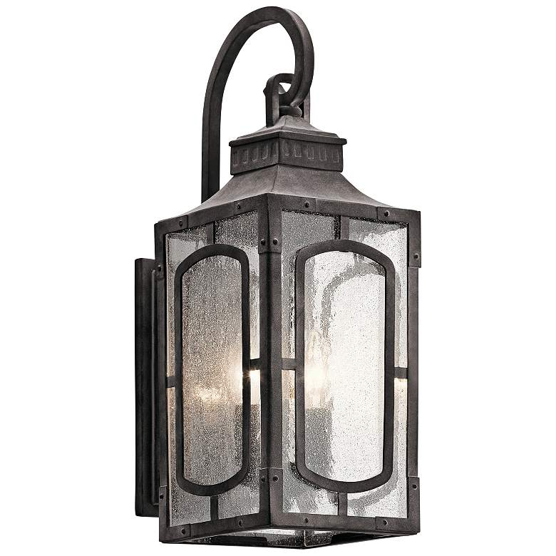 "Bay Village 18 3/4"" High Weathered Zinc Outdoor Wall Light"
