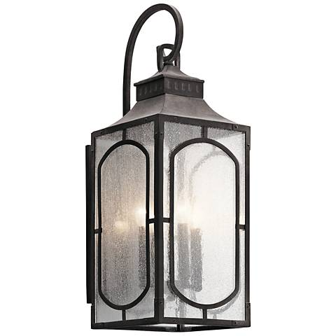 "Bay Village 27 1/4"" High Weathered Zinc Outdoor Wall Light"