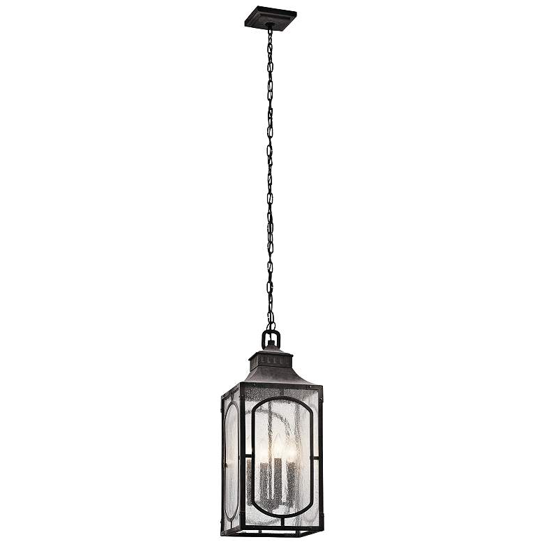 "Bay Village 24 3/4""H Weathered Zinc Outdoor Hanging"
