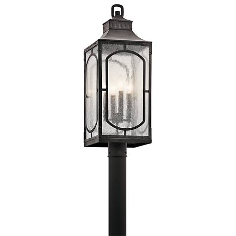 "Kichler Bay Village 27""H Weathered Zinc Outdoor Post Light"