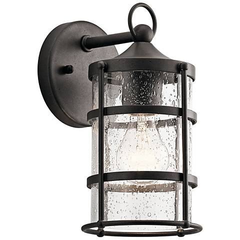 "Kichler Mill Lane 10 1/4"" High Anvil Iron Outdoor Wall Light"