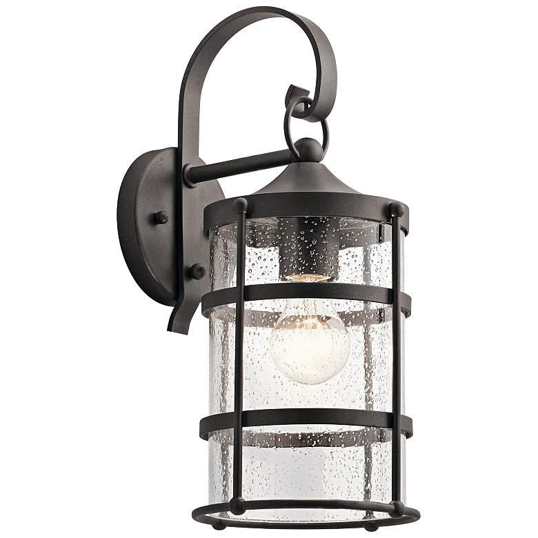 "Kichler Mill Lane 16"" High Anvil Iron Outdoor Wall Light"