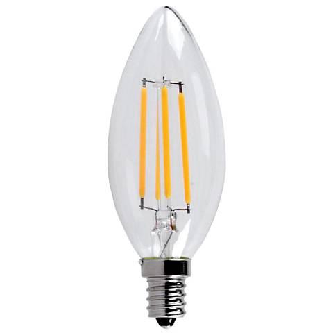 40 Watt Equivalent Clear 6 Watt LED E12 Torpedo Bulb