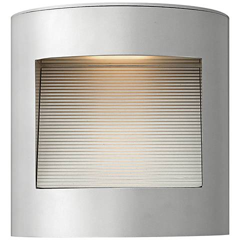 "Hinkley Luna 9"" High Titanium LED Outdoor Wall Light"