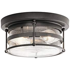 Kichler Mill Lane W Anvil Iron Outdoor Ceiling Light