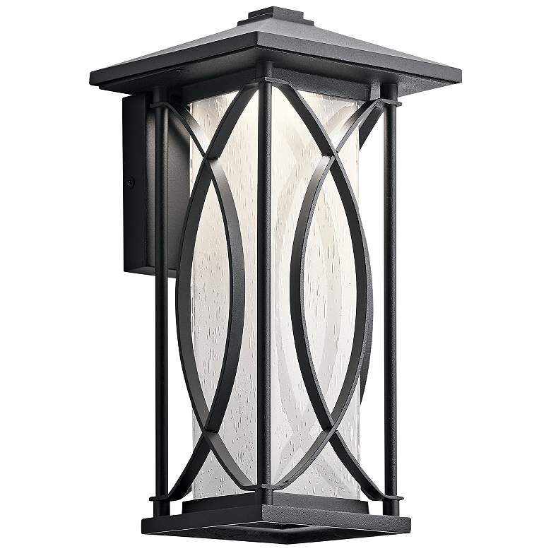 "Ashbern 12 3/4"" High Textured Black LED Outdoor"