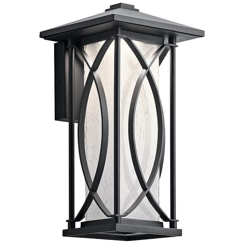 """Ashbern 12 3/4"""" High Textured Black LED Outdoor Wall Light"""