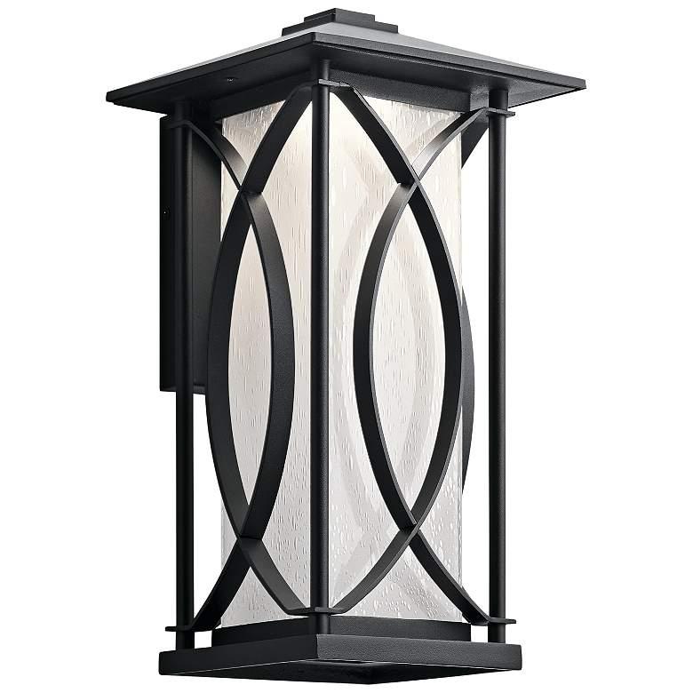 "Ashbern 15 1/4"" High Textured Black LED Outdoor"