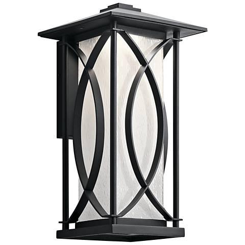 """Ashbern 15 1/4"""" High Textured Black LED Outdoor Wall Light"""