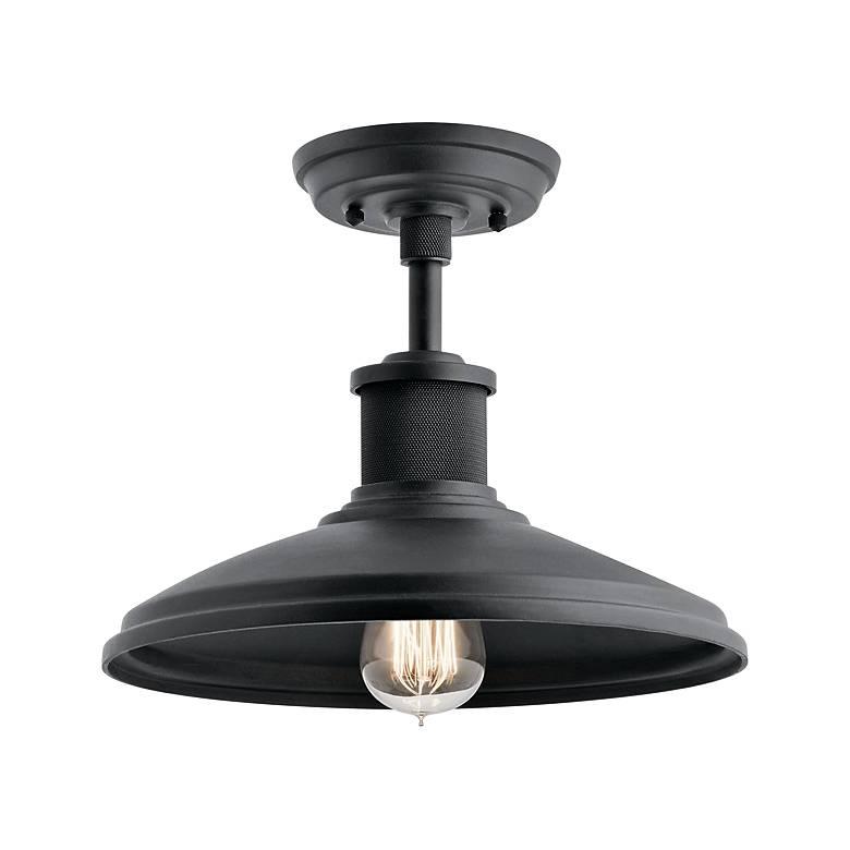 """Allenbury 12"""" Wide Black Convertible Outdoor Hanging Light"""