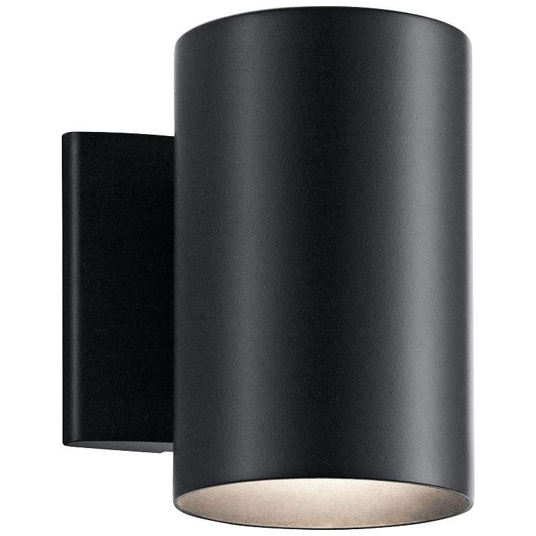 "Kichler Harper 7"" High Black Outdoor Wall Light"