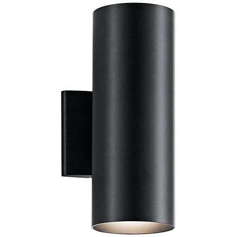 "Kichler Harper 12"" High Black Outdoor Wall Light"