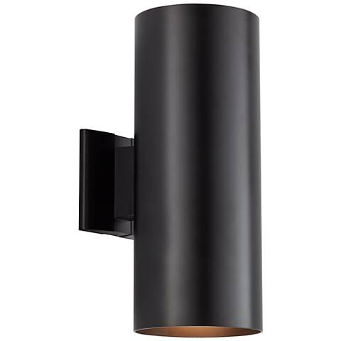 "Kichler Harper 15"" High Black Outdoor Wall Light"
