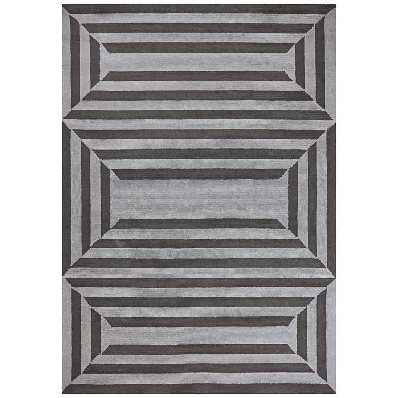Libby Langdon Hamptons 5220 5'x7' Charcoal Emerson Area Rug