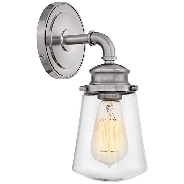 """Hinkley Fritz 11 3/4"""" High Brushed Nickel Wall Sconce"""