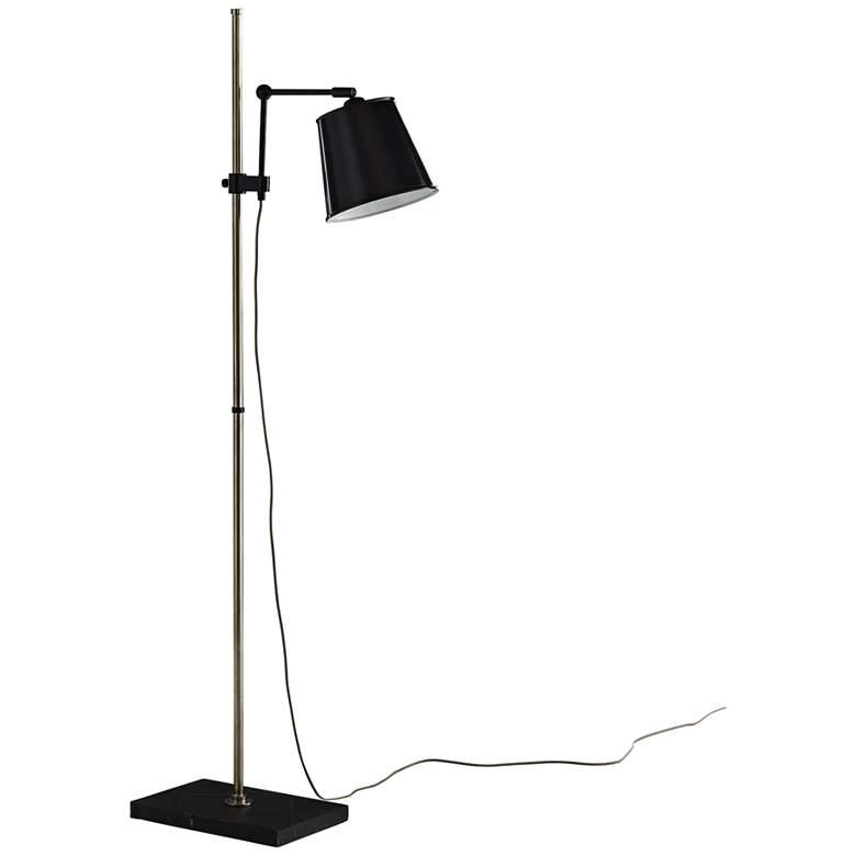 Watson Bronze and Silver Adjustable Floor Lamp
