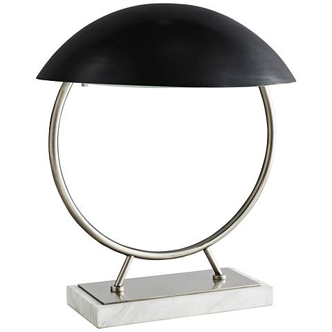 """Arteriors Home Locklan 17""""H Vintage Silver Accent Table Lamp"""