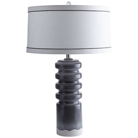 Arteriors Home Jonny Paloma Gray Reactive Glaze Table Lamp