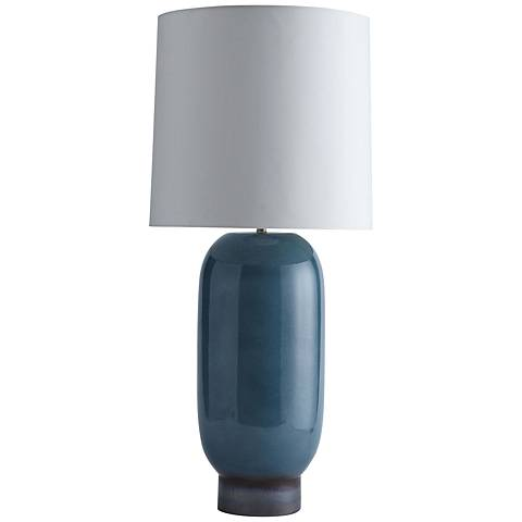 Arteriors home table lamps lamps plus arteriors home kassy teal reactive glaze table lamp aloadofball Image collections