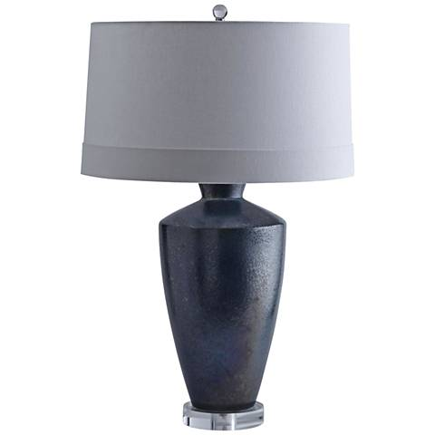 Arteriors Home Loney Aster Aegean Reactive Glaze Table Lamp