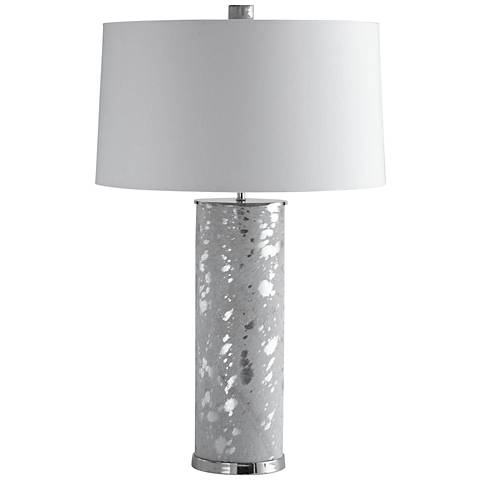 Arteriors Home Sheena White and Silver Leaf Table Lamp