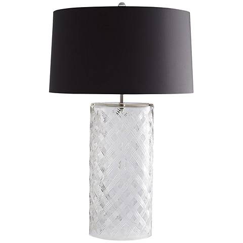 Arteriors Home Kamal Clear Diamond Etched Glass Table Lamp