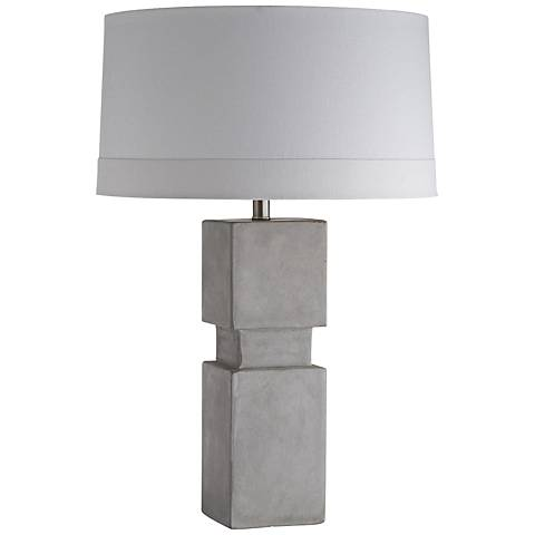 Arteriors Home Jorge Fossil Gray Concrete Table Lamp