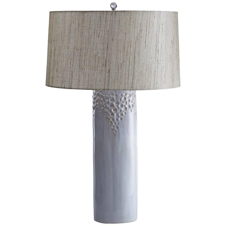 Kayden White Sandstone Reactive Glaze Ceramic Table Lamp