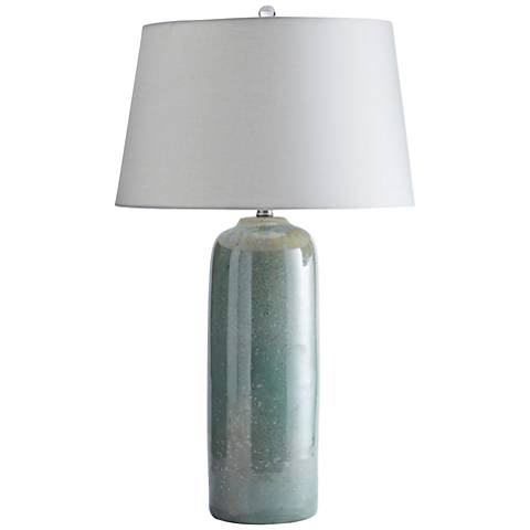 Keelan Misty Jade Reactive Glaze Ceramic Table Lamp