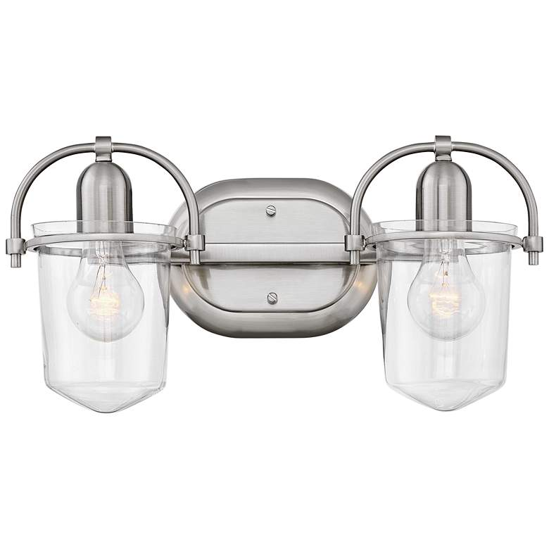 "Hinkley Clancy 8 1/4""H Brushed Nickel 2-Light Wall"
