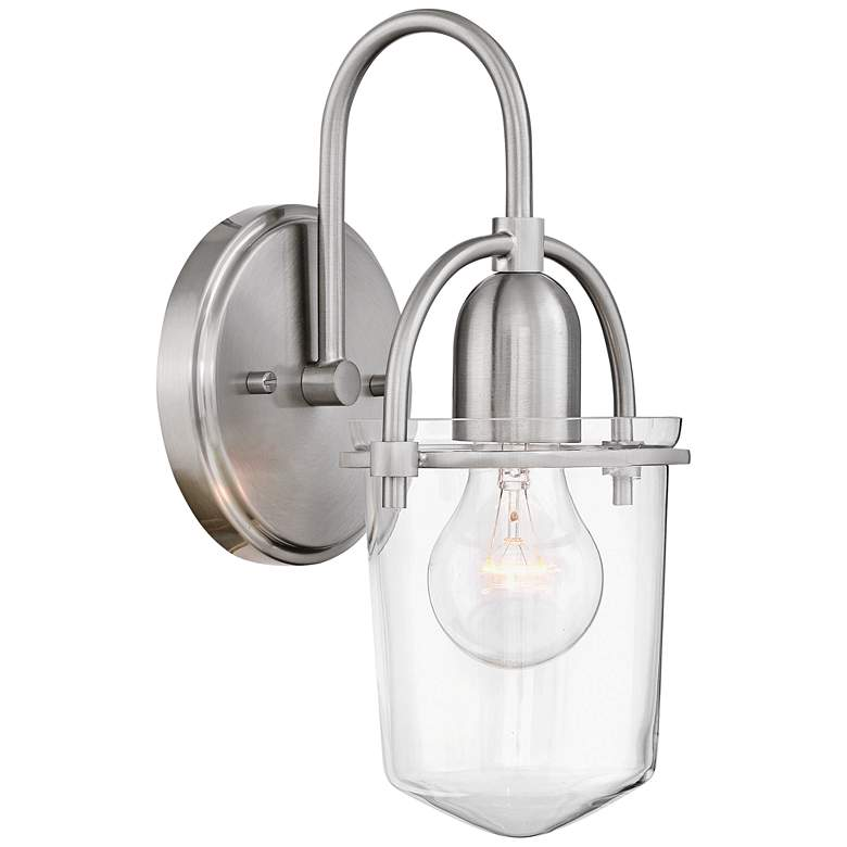 """Hinkley Clancy 11 1/4"""" High Brushed Nickel Wall Sconce"""