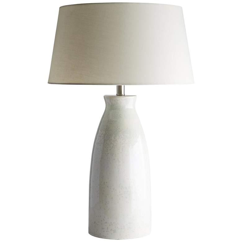 Kenya Soft Celadon and Ecru Reactive Glaze Table Lamp