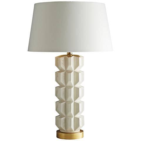 Arteriors Home Gilda Glossy White Table Lamp