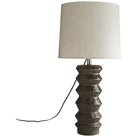 Arteriors Home Herbert Dark Bronze Reactive Glaze Table Lamp