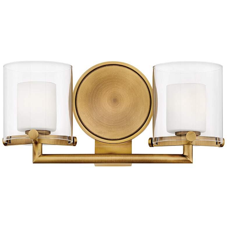 "Hinkley Rixon 7"" High Heritage Brass 2-Light LED Wall Sconce"